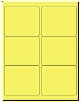 "4"" X 3.33"" Pastel Yellow Sheets"
