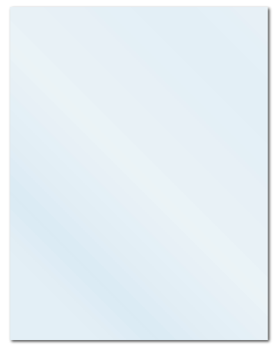 "8.5"" X 11"" Frosty (Matte) Clear Sheets"