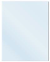 "8.5"" X 11"" Frosty (Matte) Clear Sheets"