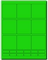 """2.75"""" X 2.75"""" Fluorescent Green Sheets"""