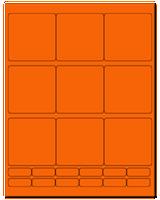 "2.75"" X 2.75"" Fluorescent Orange Sheets"