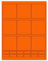 "2.75"" X 2.75"" Fluorescent Orange Sheets"