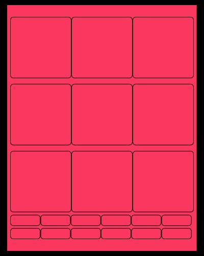 "2.75"" X 2.75"" Fluorescent Pink Sheets"