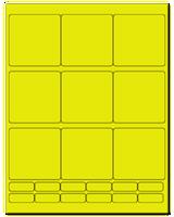 "2.75"" X 2.75"" Fluorescent Yellow Sheets"