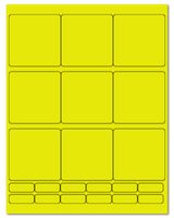 "2.75"" X 2.75"" Fluorescent Yellow Sheets"