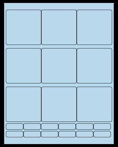 "2.75"" X 2.75"" Pastel Blue Sheets"