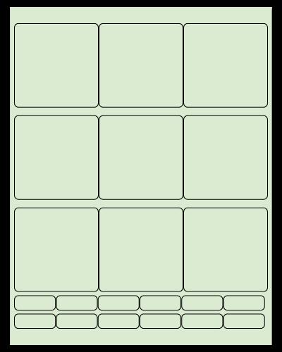 "2.75"" X 2.75"" Pastel Green Sheets"