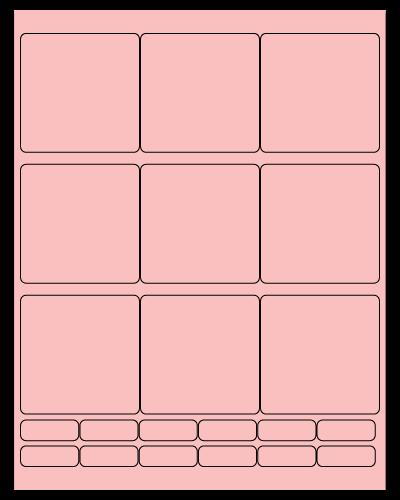 "2.75"" X 2.75"" Pastel Pink Sheets"