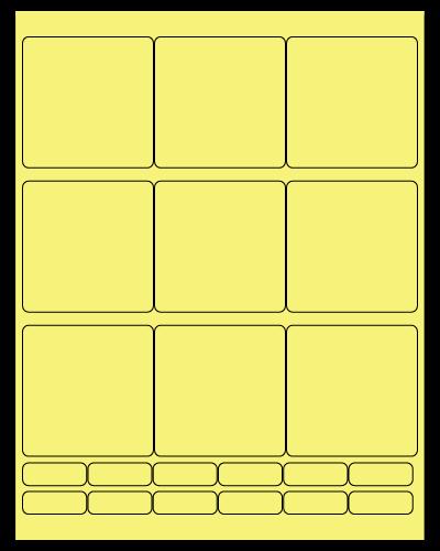 "2.75"" X 2.75"" Pastel Yellow Sheets"