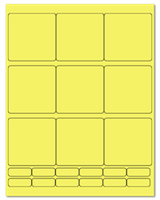 "2.75"" X 2.75"" Pastel Yellow Sheets"