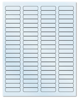 "1.75"" X 0.5"" Clear Matte Laser Sheets"