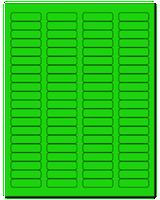 """1.75"""" X 0.5"""" Fluorescent Green Sheets"""