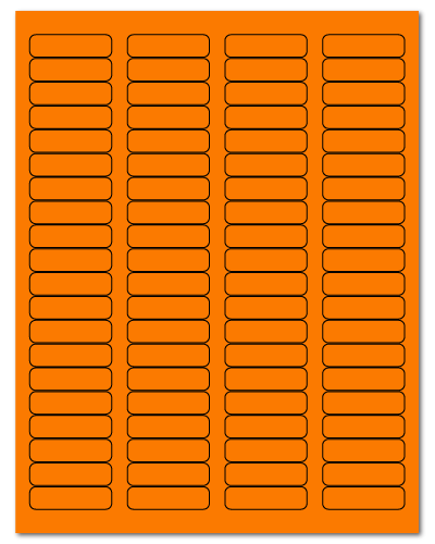 "1.75"" X 0.5"" Fluorescent Orange Sheets"