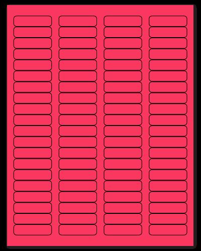 "1.75"" X 0.5"" Fluorescent Pink Sheets"