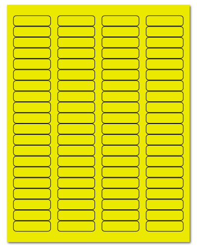 "1.75"" X 0.5"" Fluorescent Yellow Sheets"