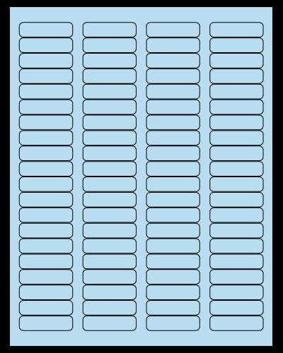 "1.75"" X 0.5"" Pastel Blue Sheets"
