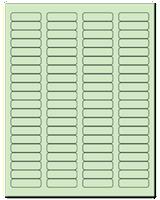 "1.75"" X 0.5"" Pastel Green Sheets"