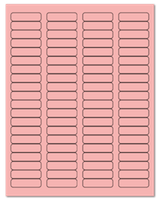 "1.75"" X 0.5"" Pastel Pink Sheets"
