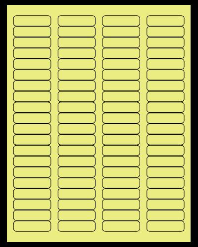 "1.75"" X 0.5"" Pastel Yellow Sheets"