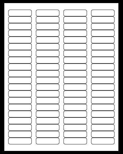 """1.75"""" X 0.5"""" White Matte Sheets"""