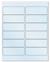 "4"" X 1.5"" Frosty (Matte) Clear Sheets"