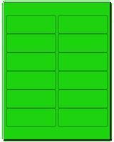 """4"""" X 1.5"""" Fluorescent Green Sheets"""