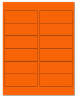 "4"" X 1.5"" Fluorescent Orange Sheets"