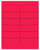 "4"" X 1.5"" Fluorescent Pink Sheets"