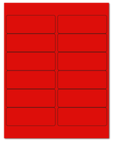 "4"" X 1.5"" Fluorescent Red Sheets"