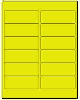 "4"" X 1.5"" Fluorescent Yellow Sheets"