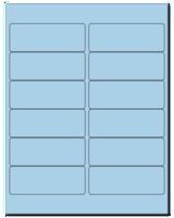 "4"" X 1.5"" Pastel Blue Sheets"