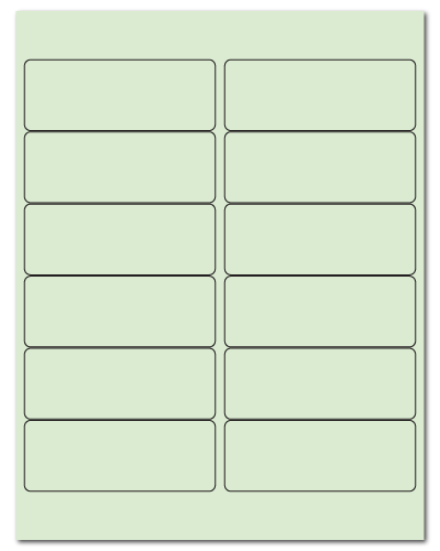 "4"" X 1.5"" Pastel Green Sheets"
