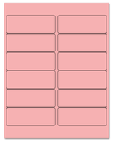 "4"" X 1.5"" Pastel Pink Sheets"