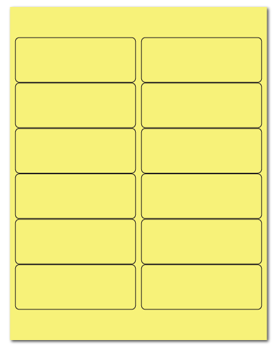 "4"" X 1.5"" Pastel Yellow Sheets"