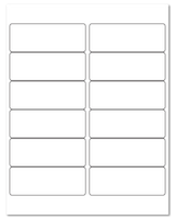 """4"""" X 1.5"""" White Matte Sheets"""