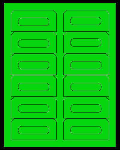 """3.5"""" X 1.625"""" Fluorescent Green Sheets"""