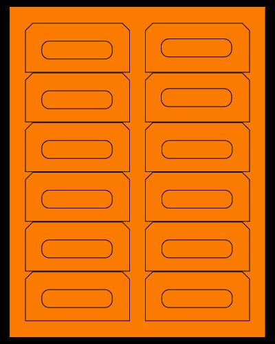 "3.5"" X 1.625"" Fluorescent Orange Sheets"