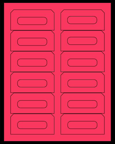 "3.5"" X 1.625"" Fluorescent Pink Sheets"