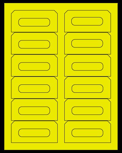 "3.5"" X 1.625"" Fluorescent Yellow Sheets"