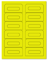 "3.5"" X 1.625"" Fluorescent Yellow Sheets"