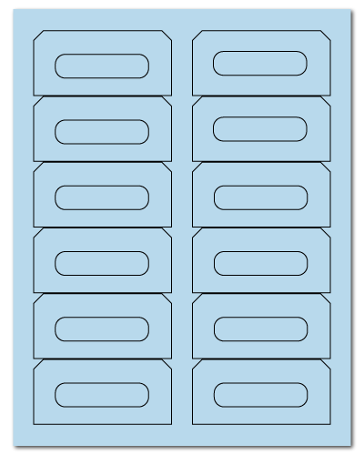 "3.5"" X 1.625"" Pastel Blue Sheets"