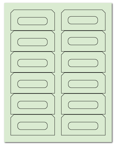 "3.5"" X 1.625"" Pastel Green Sheets"