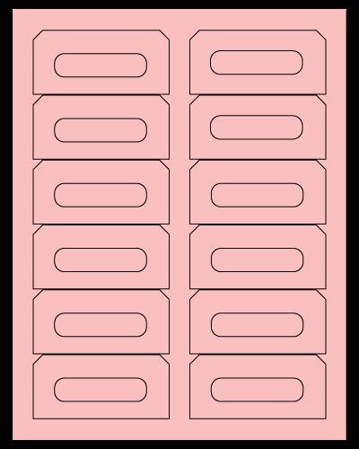 "3.5"" X 1.625"" Pastel Pink Sheets"
