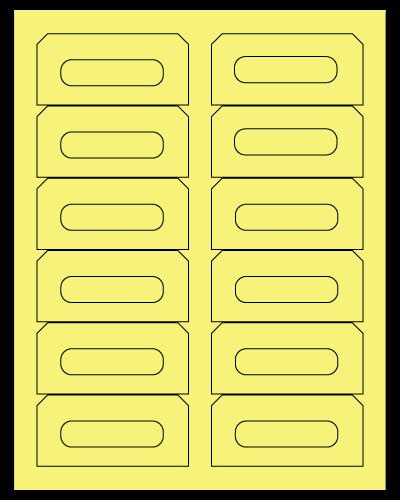 "3.5"" X 1.625"" Pastel Yellow Sheets"