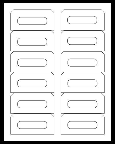 """3.5"""" X 1.625"""" White Matte Sheets"""