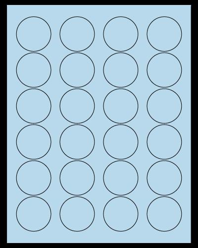 "1.625"" Dia. Pastel Blue Sheets"