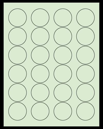 """1.625"""" Dia. Pastel Green Sheets"""