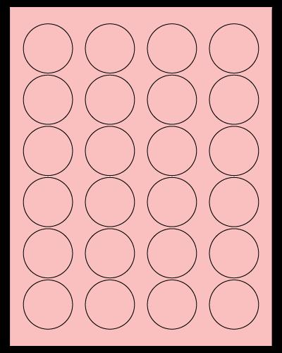 "1.625"" Dia. Pastel Pink Sheets"