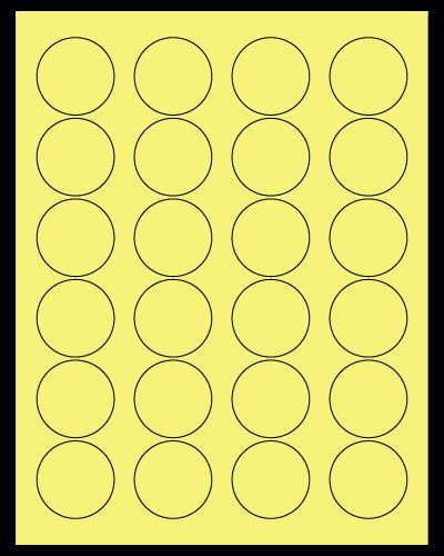 "1.625"" Dia. Pastel Yellow Sheets"