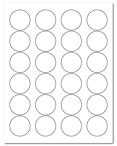 "1.625"" Dia. White Matte Sheets"